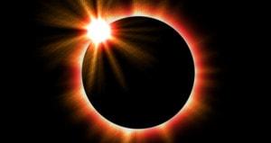 Solar Eclipse with a dark background