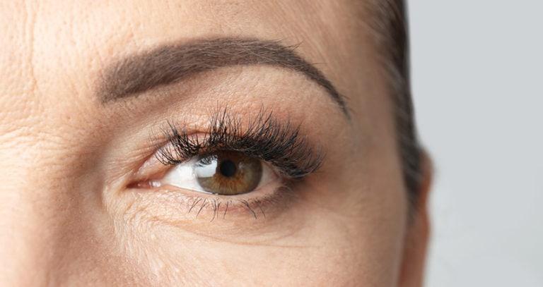 Beautiful Older Woman, Close Up Of Eye