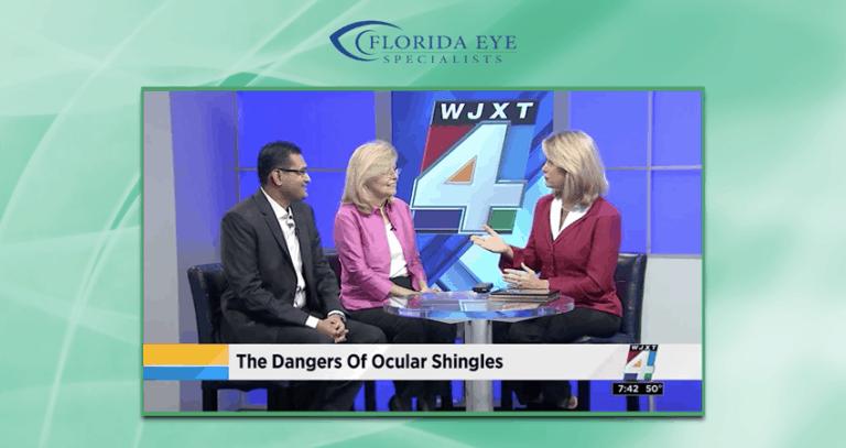 Dr. Ravi Patel on News4Jax Discussing Ocular Shingles | Florida Eye Specialists