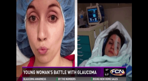 Young woman's battle with glaucoma on First Coast News