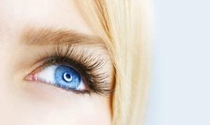 Woman's blue eye.